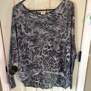 Paisley with lace blouse